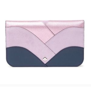 Kate spade patchwork bifold  clutch/wallet